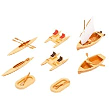 HO Scale Boats - Kit (Plastic) -- 1 Each Rowboat, Sailboat & 2 Each: Rubber Dinghies, Pedal Boats & Canoes by Faller