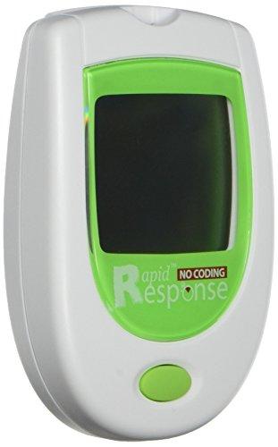 Rapid Response 04GLU-67NC Blood Glucose Meter (No Coding)...