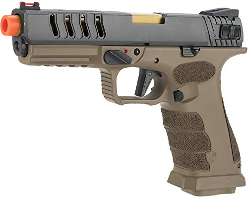 - Evike APS XTP Shark Full Automatic Select-Fire Co2 Gas Blowback Airsoft Pistol (Color: Tan/Stippled)