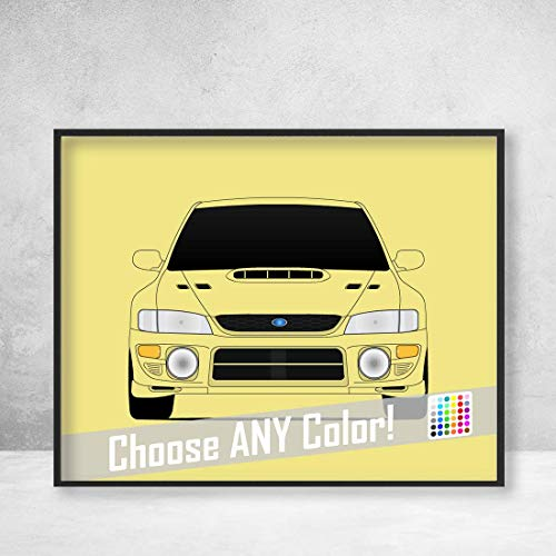 Subaru WRX Impreza G1 First Generation (1992-2000) Poster Print Wall Art Decor Handmade GC8 gc gf gm N Series