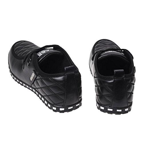 Zapatos de deporte - SODIAL(R) zapatos deportivos ocasionales y impermeable de cuero de moda para hombres(Por favor seleccione 0.5 tamano mas grande!) botas cortas y termicas de nieve negro 9