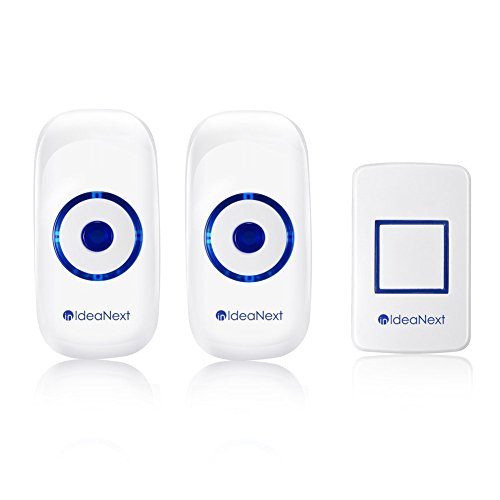 UPC 712324668308, IdeaNext Wireless Doorbell Smart Home Digital Doorbell with 1 Remote Button Transmitter and 2 Plug-in Receivers Operating at 1000ft Range with 36 Chime Tones, No Battery Required for Receivers