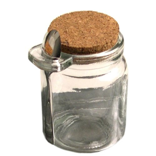 8oz glass jar with spoon - 4