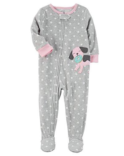 Carter's Baby Girls' 12M-24M One Piece Dog Fleece Pajamas 12 Months ()