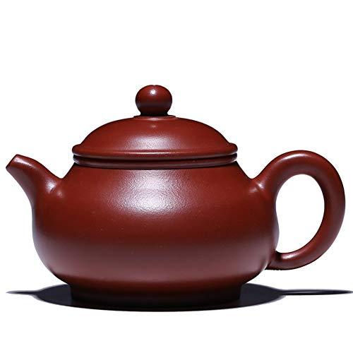 Teapot Teapot Yixing Original Mine Purple Sand Pot Pan Pot Original Mine Dahongpao Handmade Teapot Lettering Detailed Classic Tea Set (Color : Plain face)