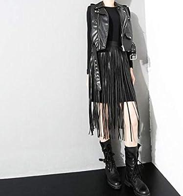 Falda Larga con Flecos de Lady Fashion Fashion con cinturón ...