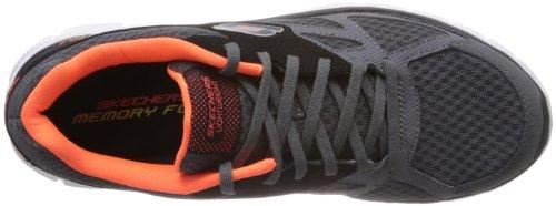 Skechers Sport Mens Flex Vantaggio Master Piano Sneaker Charcoal / Nero