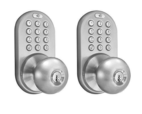 indoor nickel door knobs - 9