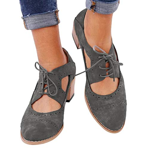 2ff32bbacafb4 Baiggooswt Round Leather Hollow Strap with Low Heel lace Ankle Boots  Women's Shoes Pointed Sandals Gray