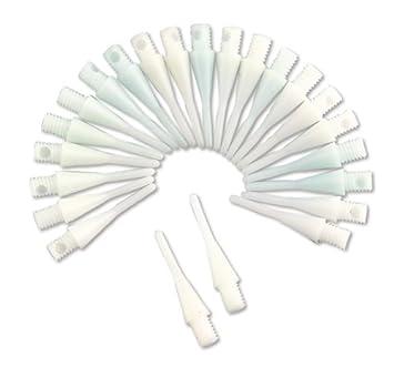 100 St/ück Smartness Points Soft Tips Dartspitzen 6mm 2BA Weiss