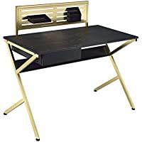 ACME Furniture Acme 92332 Bolles Desk, black & Gold, One Size