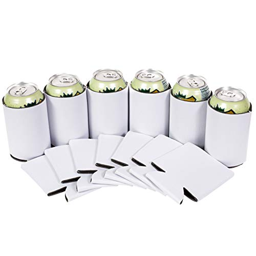 QualityPerfection 25 White Party Drink Blank Beer Can Coolers(12,25,50 Bulk Pack),Soda Coolies Sleeves | Soft, Insulated Coolers | 30 Colors | Perfect for DIY Projects,Holidays,Events by QualityPerfection