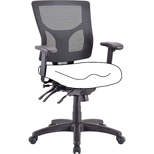 Lorell LLR62003 Mesh Mid-Back Chair Frame Black