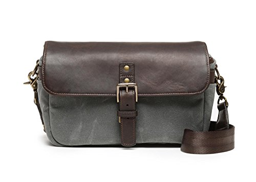 ONA - The Bowery - Camera Messenger Bag - 50/50 Smoke Waxed Canvas & Dark Truffle Leather (ONA5-014GRLDB) by Ona