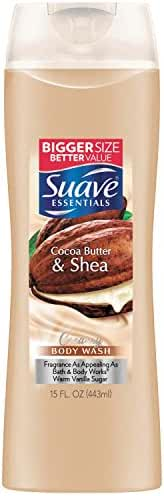 Suave Essentials Body Wash, Creamy Cocoa Butter and Shea 15 oz