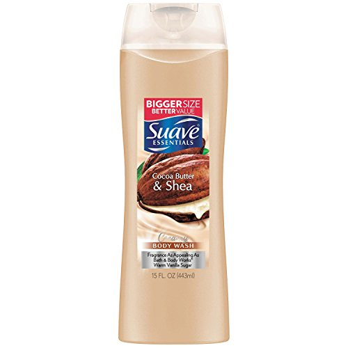 Suave Naturals Body Wash, Creamy Cocoa Butter & Shea 15 Ounce (Pack of 6)