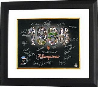 Howard Johnson Signed Photo - 16x20 Custom Framed black 1986 World Series (Howard Johnson Photo)