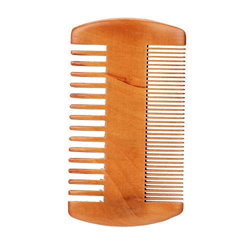 Men Boar Beard Mustache Styling Brush Facial Hair Cleaning Shaving Bamboo Handle (Size - Beard Brush + Comb)
