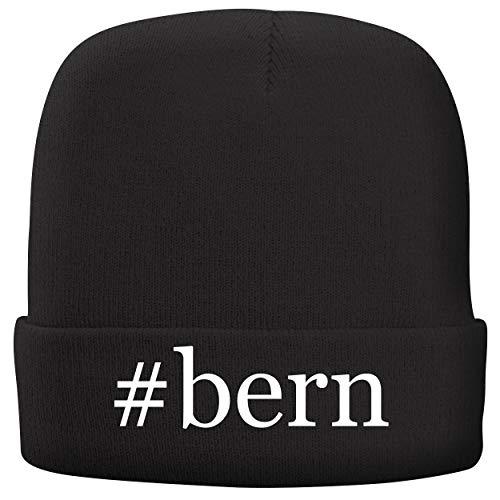 (#Bern - Adult Hashtag Comfortable Fleece Lined Beanie, Black)
