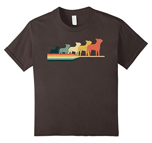 unisex-child Boston Terrier T-shirt, Vintage Retro Style T-shirt 12 Asphalt (Boston Kids T-shirt)