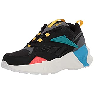 Reebok Women's Aztrek Double Mix Pops Running Shoe, Black/Alloy/Teal Gem, 7 M US