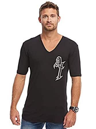 Afterlife Black V Neck T-Shirt For Men