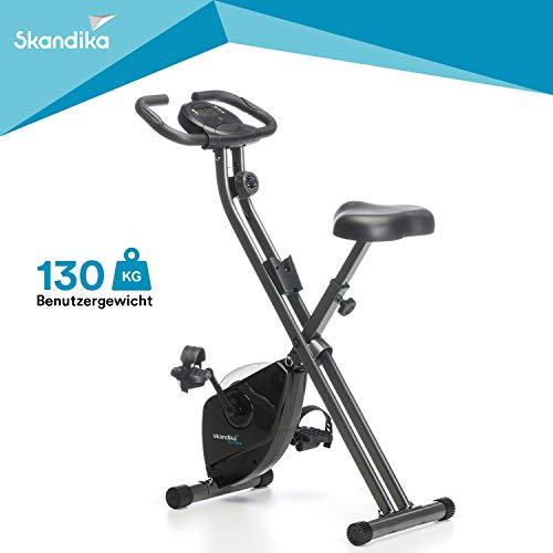 Skandika Unisex's Folding Exercise Bike, Black,...