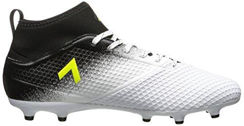 adidas Herren Ace 17.3 Feste Bodenplatten Fußballschuh Weiß / Solar Gelb / Schwarz