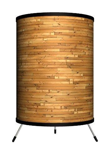 Lamp-In-A-Box TRI-DEC-WOODS Décor Art - Wood Slats Tripod Lamp, 14
