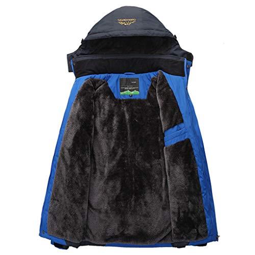 66 Da Impermeabile Antivento Dimensioni Termico Blu Invernale Piumino Srl M Velluto In Uomo colore Cappotto Blu Giubbotto BqPUg