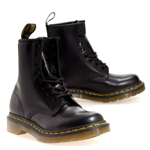 Blk Patent Leather Bag (Dr. Marten's Women's 1460 8-Eye Patent Leather Boots, Black, 5 F(M) UK)