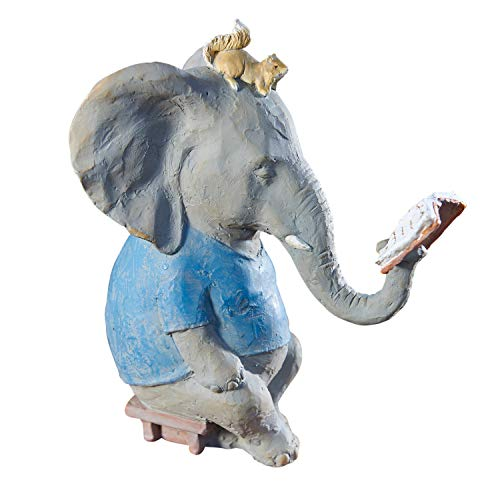 ART & ARTIFACT Reading Elephant and Squirrel Sculpture - 10