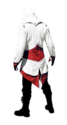 DAZCOS Adult Unisex Killer Cosplay Costume Hoodie/Jacket/Coat Red White (Men S)