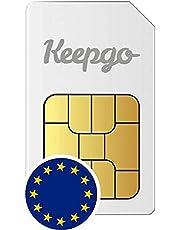 Keepgo – Europa 4G LTE SIM-kaart – Europa – meer dan 30 gedekte landen – 2 GB data-volume inclusief