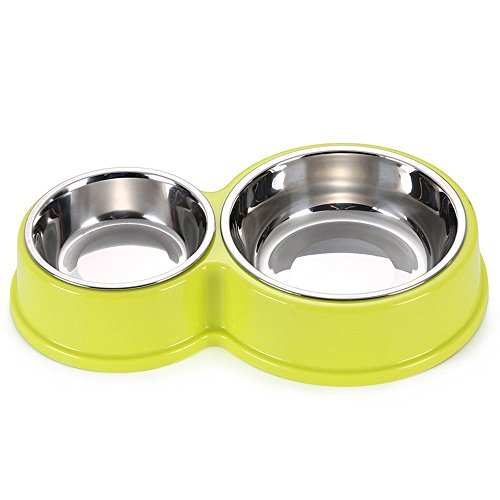 Zoopolr Dog And Cat Bowl Set - Thick & Quality - Raised Stand as Extra Bowls ( For Small Pets 14 ounces & 7 ounces )