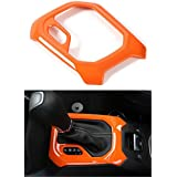 Dwindish Orange ABS Interior Mouldings Car Decorative Gear Panel Frame Trim Cover for Jeep Renegade 2015 up