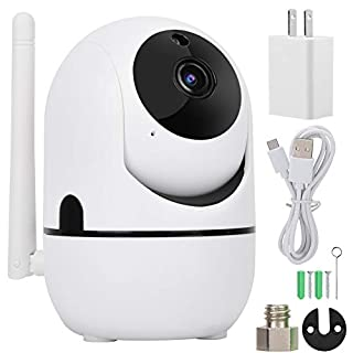 Wireless Camera, 720P/1080P HD Wireless WIFI PTZ Camera Auto Track Security Camera White and Home Security Baby Cam with Night Compatible with Alexa(04White)