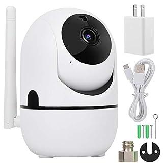 Zouminy Security Camera, 720P/1080P HD Wireless WiFi Camera PTZ Camera Auto Track Security Camera HD Surveillance System (1080P US Plug)
