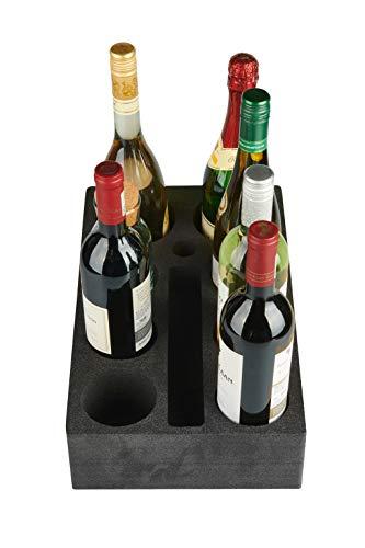 41VXtCVjmKL SCHAUMEX® Flaschenhalter aus Schaumstoff – Platz für 6 Flaschen/Getränke – Spezialschaumstoff für Camping Wohnwagen…