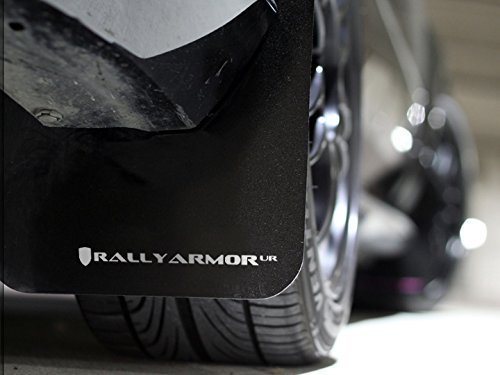 Rally Armor UR Mud Flaps 2012+ Subaru Impreza 2.0i (non turbo) - Black with White (Subaru Impreza Mud Flaps)
