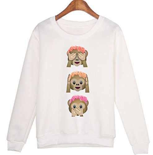 GAMT Sweaters Monkeys Flowers Overhead product image