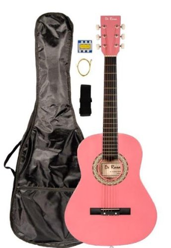 36'' Inch 3/4 Scale Size Pink Student Beginner Acoustic Guitar with''Learn to Play Guitar DVD'' and Carrying Case & Accessories & DirectlyCheap(TM) Medium Guitar Pick (A-PRO Series) [Teacher Approved] by Directly Cheap