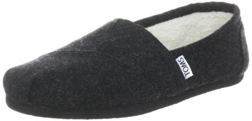 TOMS Women's Seasonal Classics Black Woolen Flat 6.5 B -