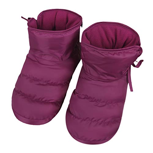Pictures of Unisex Winter Quilted Down Ankle Bootie House 4