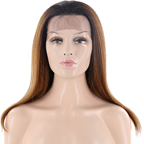 X-tress New Fashion Dark Brown Long Wavy Synthetic Lace Front Wig 26'' Christmas Gift Nature Looking Glueless Heat Resistant Side Part Wig for Women Party Custom Costume ()