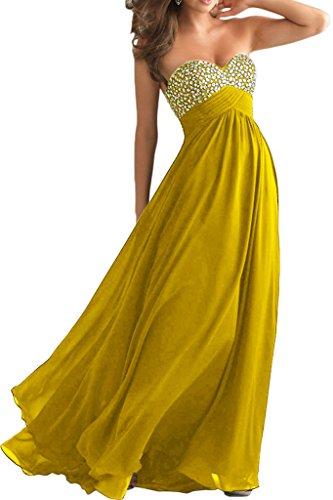 La_mia Braut Blau Herzformig Steine Abendkleider Ballkleider Abschlussballkleider Partykleider A-linie Lang Festlichkleider Dunkel Gelb wfPWHW3g