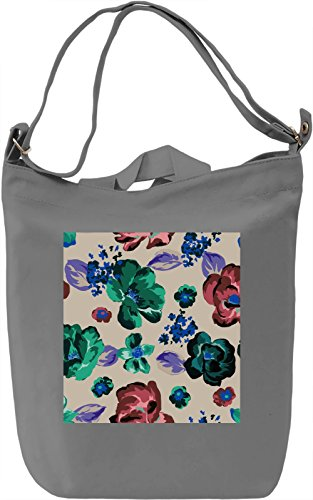 Abstract Flower Print Borsa Giornaliera Canvas Canvas Day Bag| 100% Premium Cotton Canvas| DTG Printing|