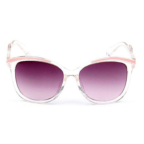 Personnalité de Rattan lunettes conduite lunettes acti Design loisirs soleil de soleil de Cool protection de aux UV en Lentilles aux de Lady et de plates loisirs lunettes adapté soleil miroir Rose Lunettes IOxtT