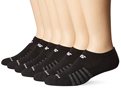 New Balance Men's 6 Pack Core Crew Socks,Black,Medium
