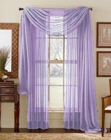 84 Long Sheer Curtain Panel
